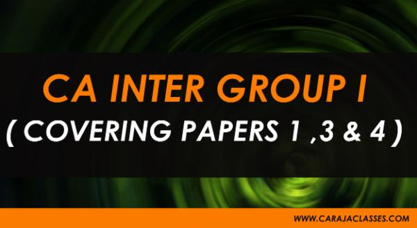 CA INTER GROUP I ( COVERING PAPERS 1 ,3 & 4 ) cover