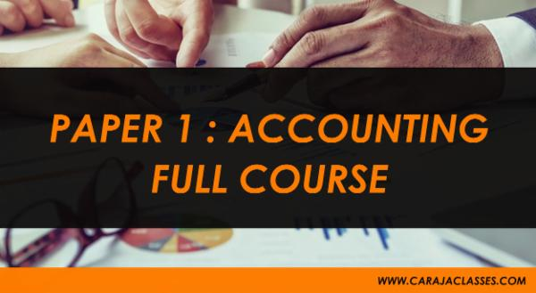 PAPER 1 : ACCOUNTING FULL COURSE cover